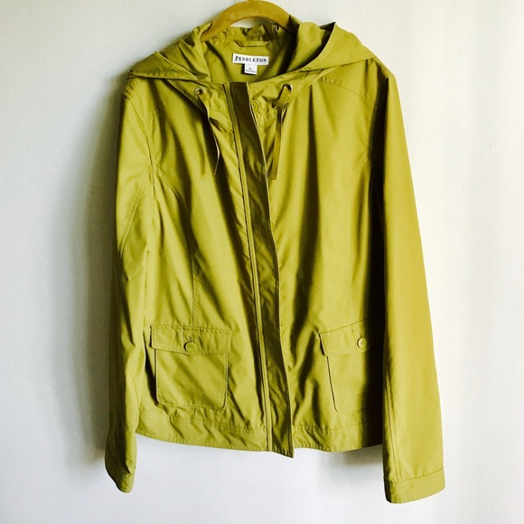 Pendleton Jackets & Blazers - Pendleton Neon Green Hooded Lined Jacket Size XL